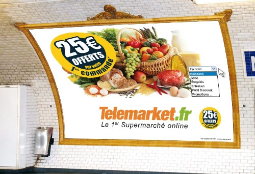 Telemarket.fr s'affiche dans le métro parisien