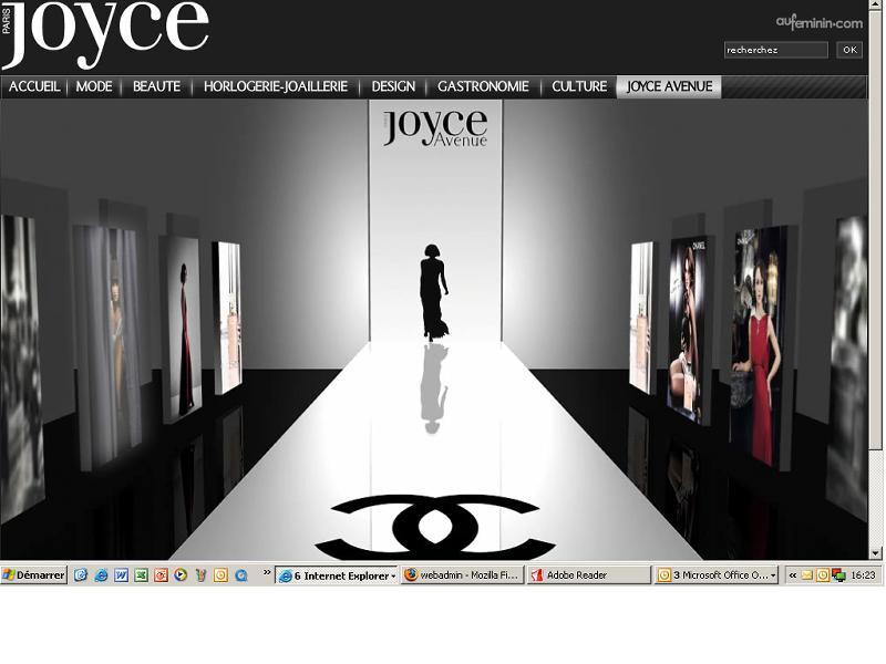 Joyce.fr propose aux grandes marques un espace en 3D