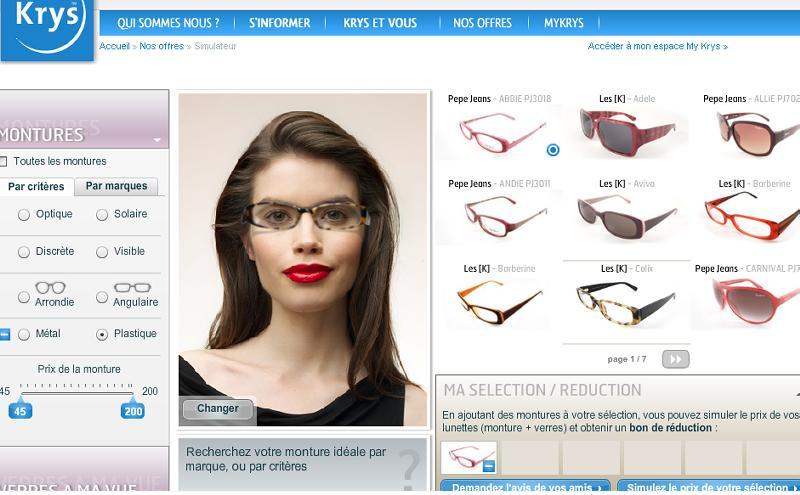 essayer des lunettes krys Mes lunettes essayer les lunettes en ligne  opticien krys retour aux résultats  profitez des offres qualissime®, et bénéficiez de .