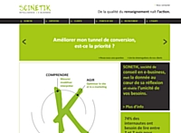 Scinetik, agence conseil dédiée à l'optimisation de la rentabilité des sites
