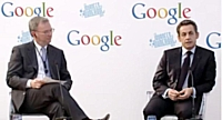 Le Googleplex inauguré par Nicolas Sarkozy