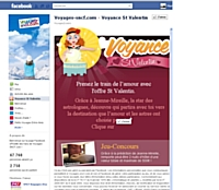 """Lancement sur Facebook de l'appli """"Voyance Saint-Valentin"""" de Voyages-Sncf.com"""