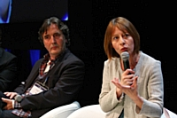 Patrick Robin et Anne-Véronique Baylac, le 4 avril 2012, à l'E-commerce One to One, à Monaco.