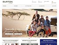 Le site de Burton lancé en délégation e-commerce