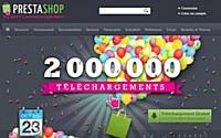 La solution PrestaShop a été téléchargée deuxmillions de fois.