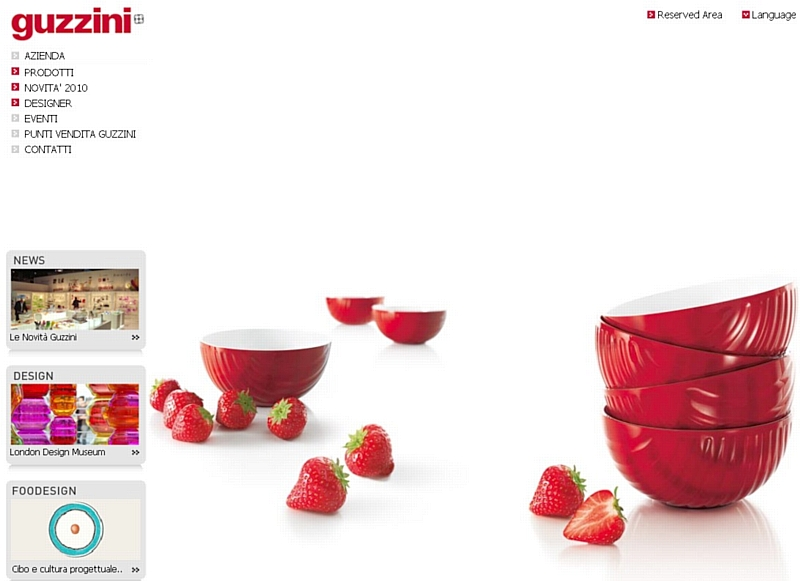La marque italienne guzzini lance son site marchand en europe - Marque cuisine italienne ...