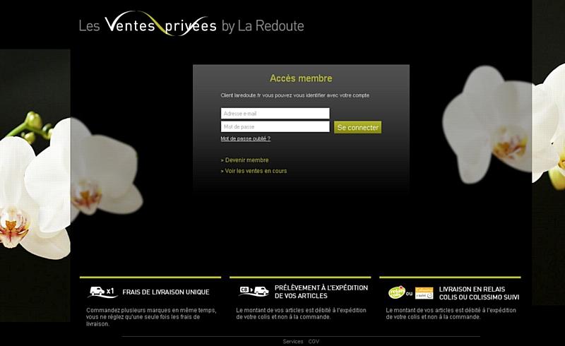 La redoute lance son site de ventes priv es - Meilleurs sites de ventes privees ...