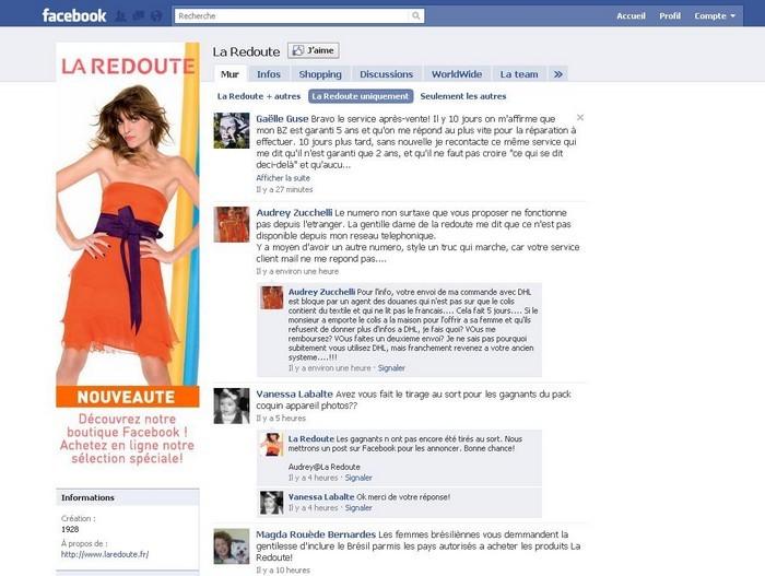 La redoute lance sa boutique facebook 100 int gr e - La redoute magasin paris ...