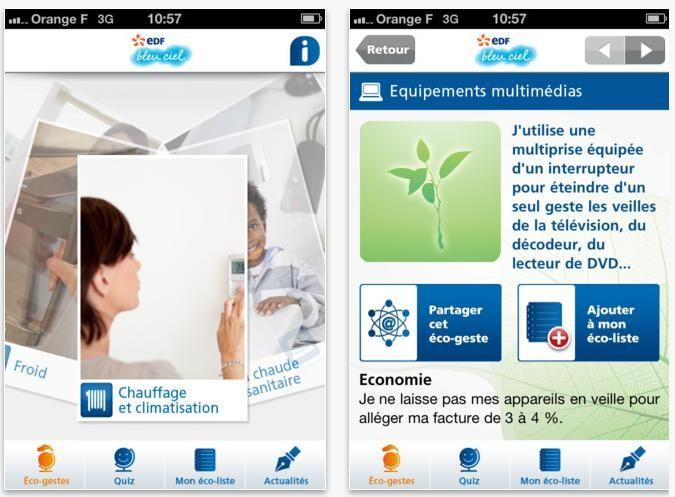 Edf bleu ciel une application mobile d di e aux eco gestes - Edf bleu ciel mon compte ...