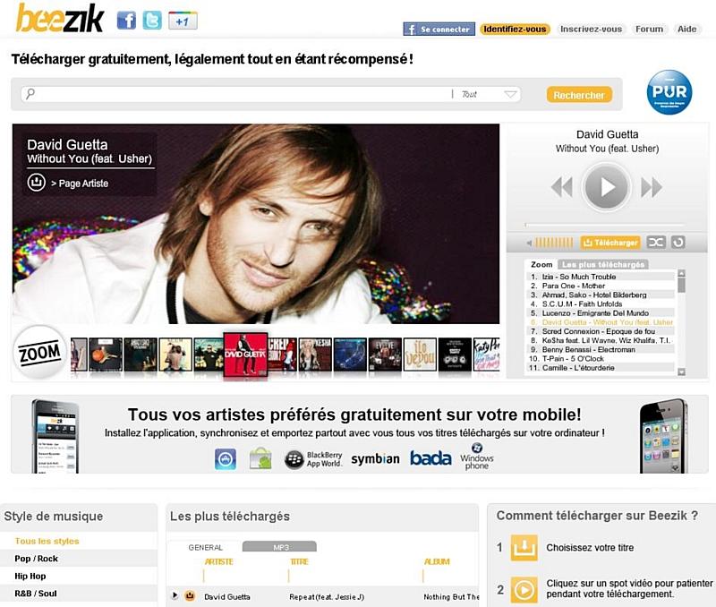 Le téléchargement de musique gratuit et légal se développe sur Beezik.com 1e8826a64475