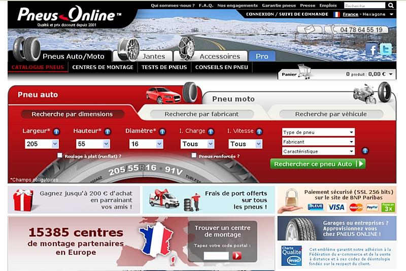 Pneus online affiche des r sultats records - Sites discount en ligne ...