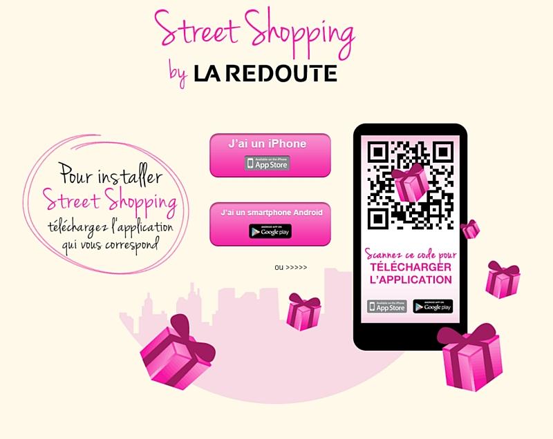 La redoute lance une campagne de mobile street shopping - La redoute france magasin ...