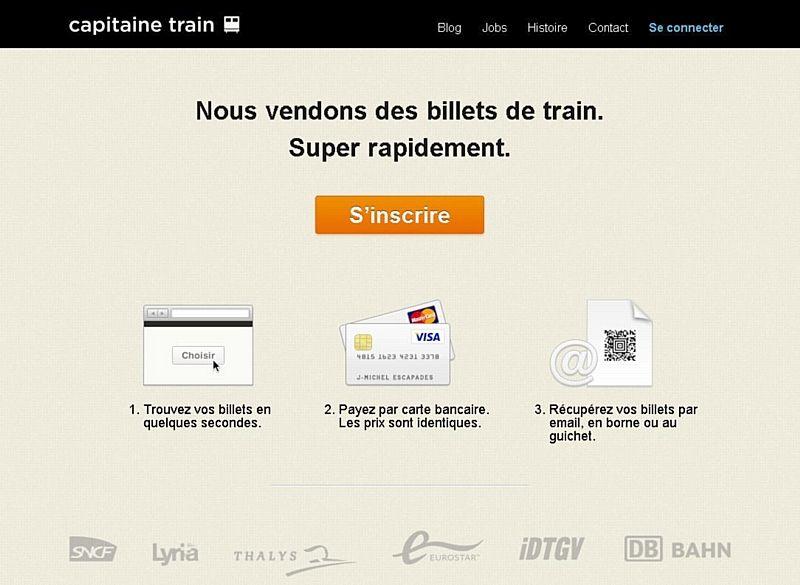 Capitaine Train veut concurrencer Voyages-sncf.com