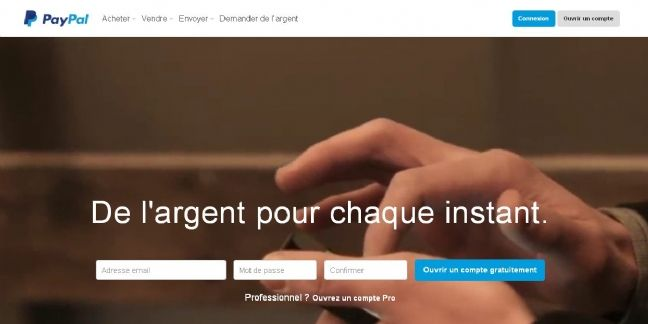 PayPal lance le paiement sur mobile en un clic