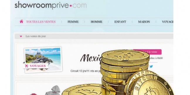 Showroomprivé déploie le paiement en bitcoins