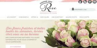 Commeunerose.com : la vente en ligne de fleurs par abonnement