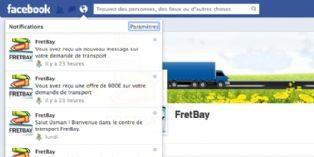 Fretbay, autorisé à utiliser les notifications Facebook