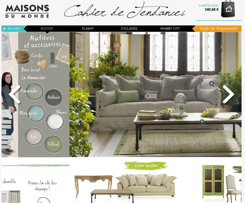 stunning affordable maisons du monde monte en gamme sur le web with maisons monde with horaire. Black Bedroom Furniture Sets. Home Design Ideas