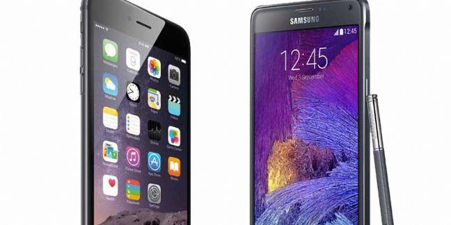 iPhone 6 et Plus d'Apple vs Galaxy Alpha et Note 4 de Samsung : le match !