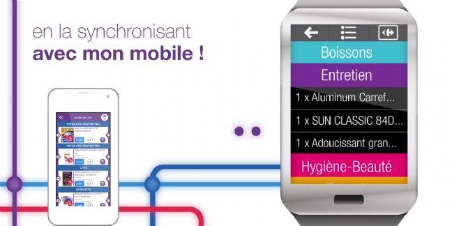 Carrefour lance la liste de courses sur montre connectée