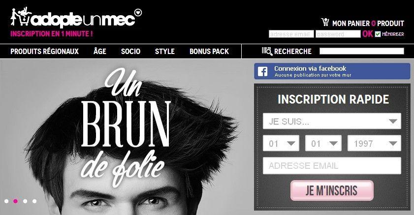 Site adopteunmec gratuit