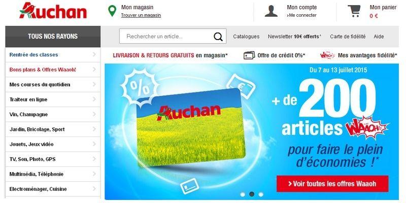 Carte Auchan Retrait.Auchan Fr Lance Le Service Retrait Encombrant