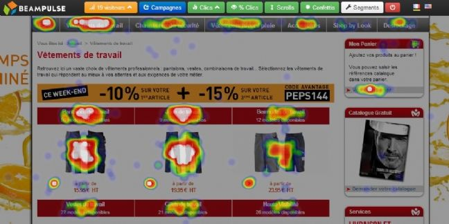 Beampulse, solutions d'analyse visuelle pour optimiser les performances de son site web