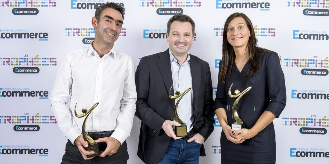 Bertrand Gstalder (Se Loger), au centre, est élu personnalité e-commerce de l'année 2016