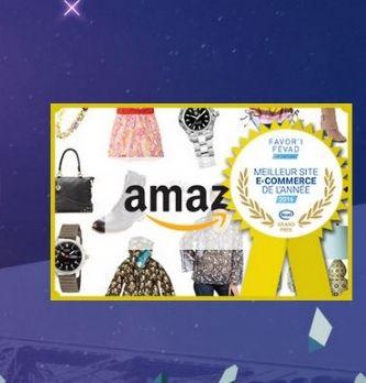 Amazon nommé meilleur site ecommerce 2016 par la Fevad