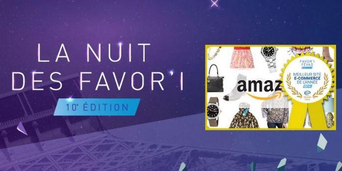 Amazon nommé meilleur site ecommerce de l'année lors de la Nuit des Favor'i de la Fevad