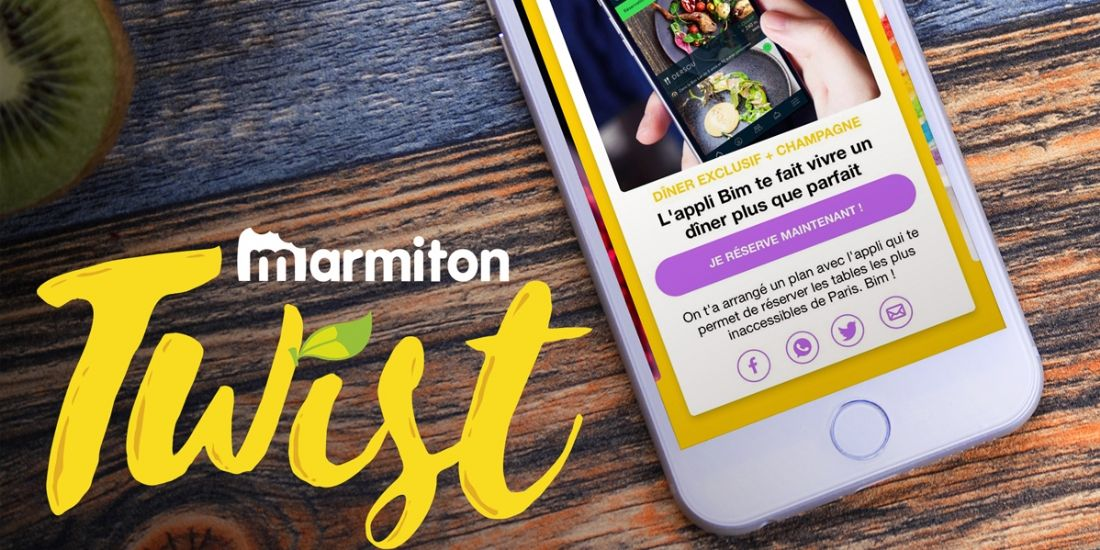 [Publicité] Twist, l'appli de Marmiton pour les food-trend setters