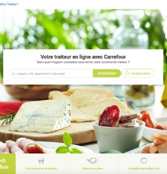 Carrefour lance une offre traiteur en ligne
