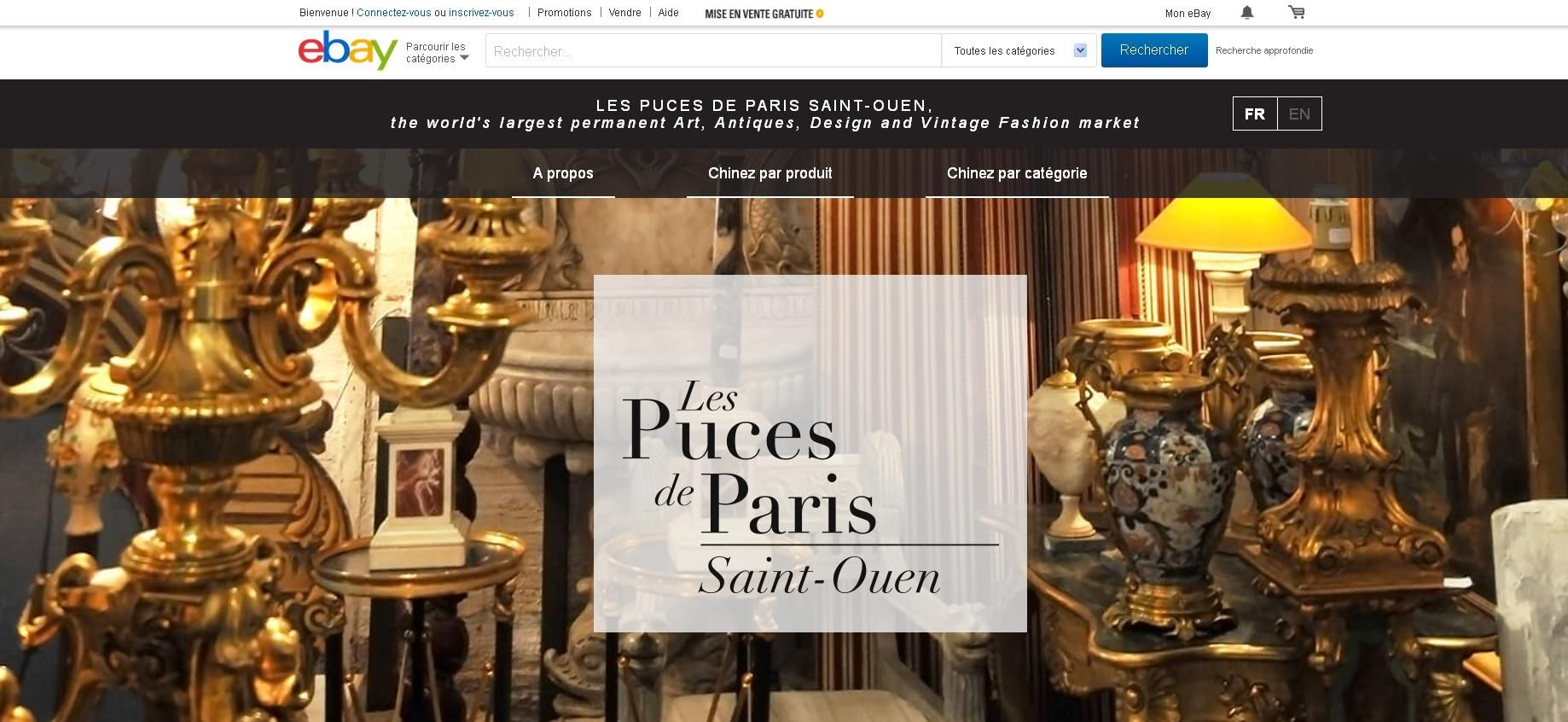 les puces de paris saint ouen s 39 ouvrent au monde sur ebay. Black Bedroom Furniture Sets. Home Design Ideas
