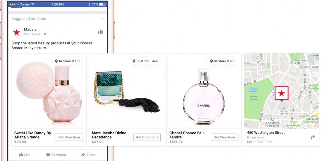 Facebook se lance dans la promotion dynamique des produits