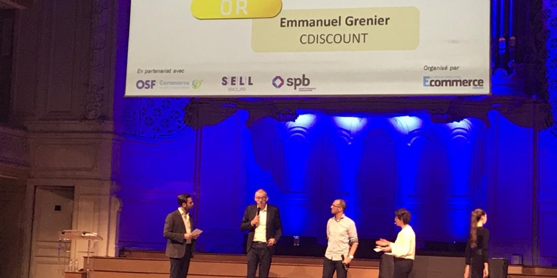 Emmanuel Grenier est élu Personnalité E-commerce de l'année 2017