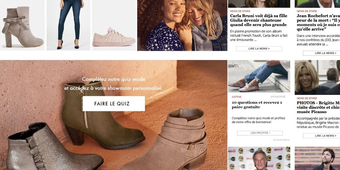 JustFab : une stratégie native advertising super ROIste