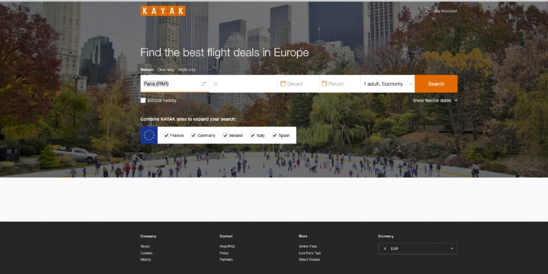 Kayak lance sa plateforme européenne pour les voyageurs