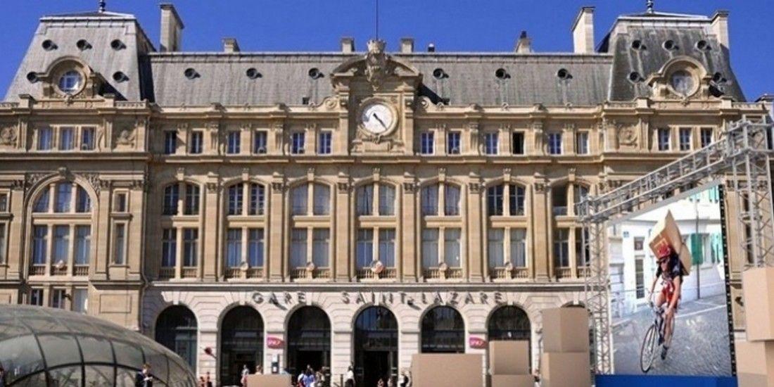 CDiscount ouvre un entrepôt éphémère devant la gare Saint-Lazare