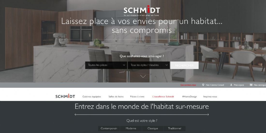 Schmidt lance un site d 39 am nagement int rieur for Site amenagement interieur