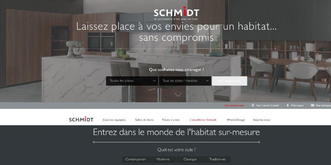 Schmidt lance un site d'aménagement intérieur