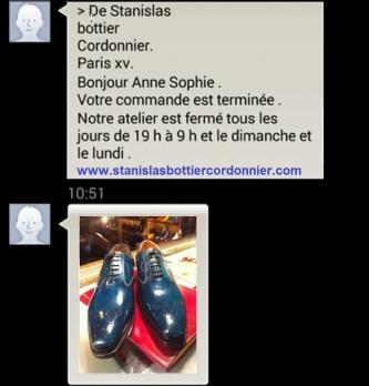 Un cordonnier parisien développe un service personnalisé par MMS auprès de ses clients