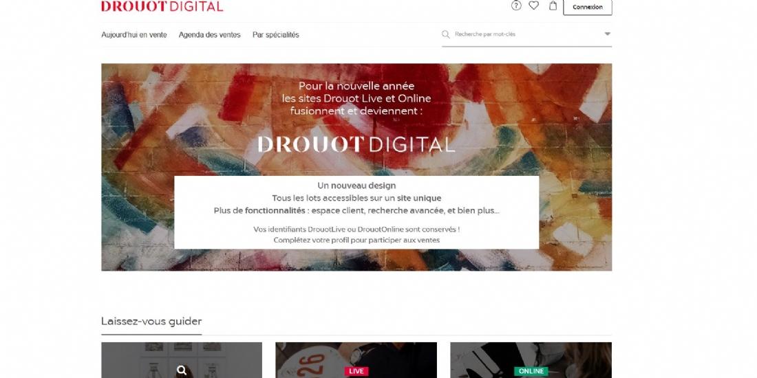 Drouot lance son nouveau site e-commerce