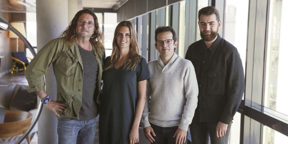 Jacques-Antoine Granjon,p-dg et fondateur du groupe vente-privee,Claire Bretton, Anis Gandoura et Paul Mouginot, fondateurs de daco.