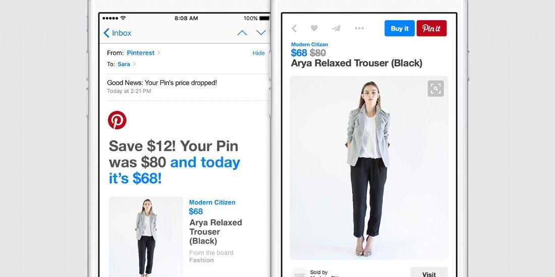 Pinterest déploie une fonctionnalité shopping