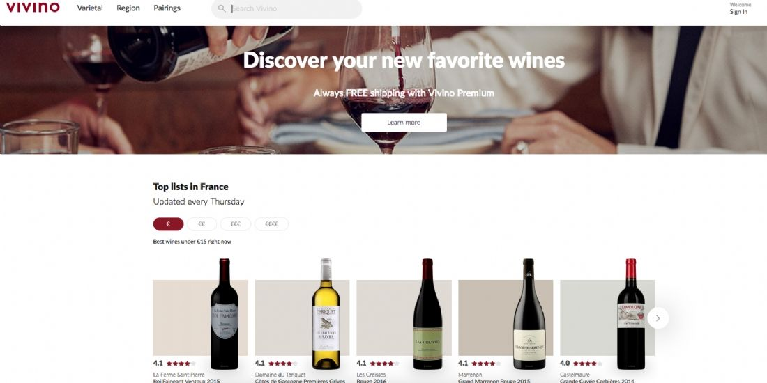 L'application Vivino lève 20 millions de dollars