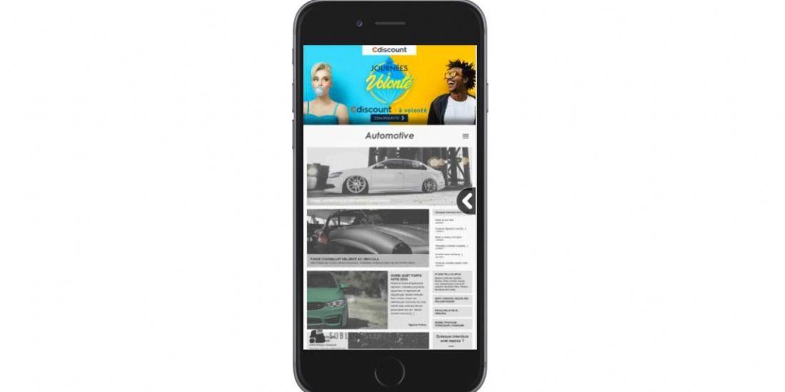 Cdiscount se met au format mobile 'Swipe to site'