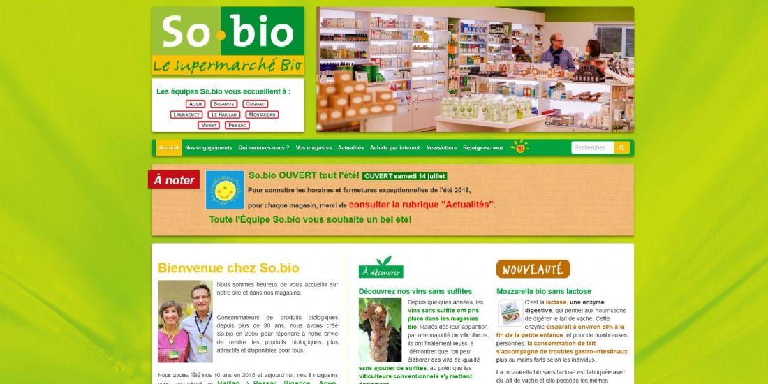 Carrefour rachète l'enseigne spécialisée So.bio