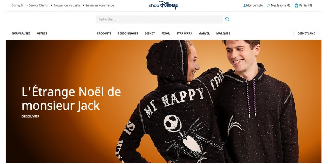 The Walt Disney Company lance le site shopDisney