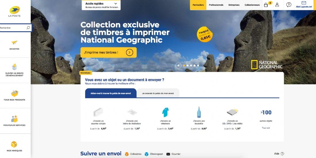 La Poste refond son site e-commerce
