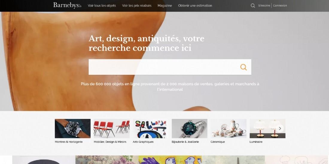 Barnebys lance une nouvelle version de sa plateforme française